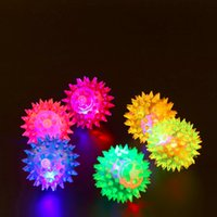 Flashing Light Up High Bouncing Balls Novidade Sensory Lovely Dog Puppies Gato Pet Hedgehog Ball Creative Funny Playing Toy