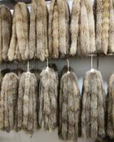 echte pelzkragen schals großhandel-Echtpelzkragen 100% echtes Waschbärpelzschal 70cm Winter für den heißen Verkauf der Frauen