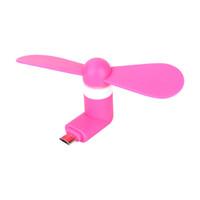 вырез оптовых-Портативный мини гибкий TPE кремния 5 Pin Super Mute Micro USB вентилятор для OTG Android мобильный телефон кулер вентилятор охлаждения