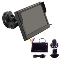 Wholesale Car Rear View Camera Dhl - by DHL or EMS 100 picecs 5 Inch TFT LCD Display 800*480 Definition Digital Panel Color Car Rear View Monitor For Rearview Camera