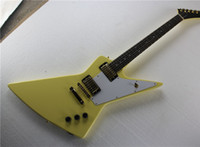 Wholesale explorer string online - Korina Explorer Unusual Shape Electric Guitar with Gold Hardware and White Pickguard and can be Customized