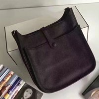 Wholesale Christmas Punches - 2017 new H classic hollow punch bag tide import embossed Shoulder Messenger leather handbag