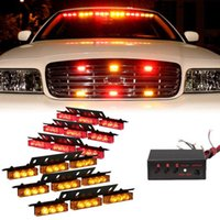6 X 9 LED Notfall Auto Auto Boat Bar Red Amber Strobe Light 3 Blitz Modus