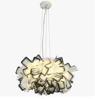 Wholesale Droplight Lamp Holder - Nordic creative Pendant Lights contracted lamps, modern romantic art restaurant droplight, E27 lamp holder or three color adjustable LLFA