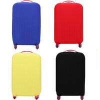 18 zoll gepäck großhandel-Großhandels-neueste Koffer-Schutzabdeckungen gelten für 18 ~ 30 Zoll-Fall, elastisches Reisegepäck-Abdeckungs-Strecken-4 Farben