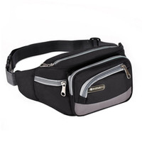 Wholesale Cell Stuff - Multi-functional Sports Bag 6 Zipper Pockets Waist Bag Fanny Chest Pack with Cell Phone Pouch & Small Stuffs for Men and Women