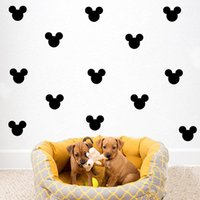 Removable PVC Animal Cartoon Mickey Head Wall Decal For Kids Boys Girls  Room Nursery Home Decor Wallpaper Poster Lovey Little Mouse Head Wall Decal