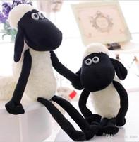 Wholesale Shaun Sheep Plush Toys - 30pcs black sheep plush toys 38cm shaun the sheep cute soft plush dolls small sheep stuffed animals toys