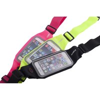 Wholesale mobilephone cases - ROMIX RH101 Sports Bag Ride Jogging Fitness Outdoor Waist Bag Elastic Waterproof for 4.7'' 5.5' Mobilephone Adjustible Case Card Pocket