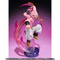 majin buu oyuncakları toptan satış-Şekil Süper Saiyan Dragon Ball Action Figure Majin Buu Figuarts Sıfır Pvc 3 Model Oyuncak 16 Cm Anime Dragonball Z Oyuncaklar Figuras Dbz