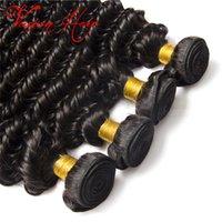 Wholesale Deep Wave Eurasian Hair - New Sales Eurasian Deep Wave Virgin Hair 4 Bundles Virgin Unprocessed Human Hair Wet And Wavy Brazilian Peruvian Indian Deep Curly