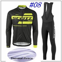 Wholesale Winter Bike Clothing - 2017 SCOTT cycling jersey SCOTT Winter Thermal Fleece ropa ciclismo maillot ciclismo bicicleta bike cycling clothes roupa ciclismo BIB sets