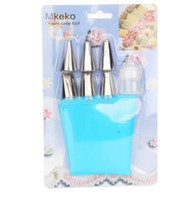 Nuevo Llega Silicona Icing Piping Cream Pastry Bag + 6xStainless Steel Boquilla Set DIY Cake Decorating Tips Set
