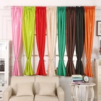 Wholesale 1Pc Valances Colors Floral Tulle Voile Door Window Curtain Drape Panel Sheer Curtains E00636 SMAD