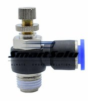 Wholesale push fit fittings for sale - NSE10 Pneumatic fittings SL10 Pneumatic Throttle Valve Quick Push In MM Tube Inch Air Fitting Flow Controller