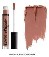 Wholesale nyx lip lingerie new colors for sale - Long Lasting Matte NYX lipgloss NYX Lip Lingerie Liquid Lipstick colors Brand New Lips Makeup DHL free