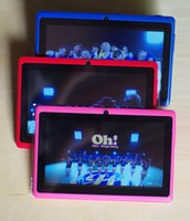 Wholesale tablet 7inch 8gb resale online - 7inch Inch A33 Quad Core Q88 Tablet Allwinner Android KitKat Capacitive GHz DDR3 MB RAM GB ROM Dual Camera Flashlight A33 MQ100