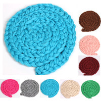 Wholesale Wholesale Robes For Girls - New European photography props Twist braid baby blankets baby pictures twist crocheted knitted photograph props for newborn girls boys