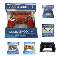 Wholesale Ps4 New Console - For PlayStation 4 PS4 Wired Game Controller Gamepad Golden Camouflage Joystick Game Pad Double Shock USB Controller Console 2017 New