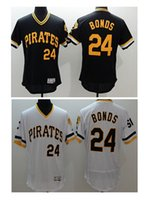 Wholesale High Quality Mens Pullover - HIGH QUALITY WHOLESALE 2016 NEW MENS PITTSBURGH PIRATES#24 BARRY BONDS WHITE PULLOVER FLEXBASE THROWBACK BASEBALL JERSEY