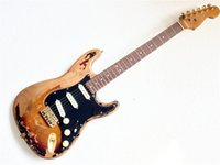 Wholesale Guitar Single Coil - Custom Shop Aged ST guitar, Single-coil pickups electric guitar, Basswood body guitarra in stock Factory handmade guitars