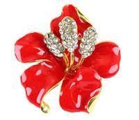 ingrosso grandi spille chiare-10pcs 6 colori trasparente cristallo papavero fiore spille pins spille di grandi dimensioni bouquet spille da sposa in stile ottobre 2016
