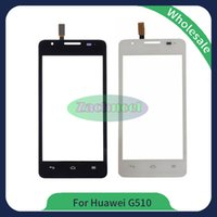 Wholesale Hot Touch Digitizer - For Huawei Ascend G510 Touch Screen Digitizer Outer Glass Lens Panel New Hot Replacement Parts Black White Free Shipping