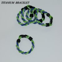 Wholesale Healthy Titanium Germanium Bracelet - Titanium football healthy bracelet bracelet Germanium sports 2 rope bracelet wrist bands