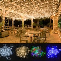 Wholesale christmas window led lights - X-MAS LED String Fairy Lights Window Curtain Icicle Lights Great for Home Wedding Party Garden(Warm white)