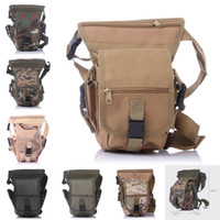 Wholesale Drop Leg Bags - Camo Military 600D Thigh Pack Waist Belt Polyester Fabric Drop Leg Bag For Motorcycle Outdoor Bike Cycling 7 Color E601L