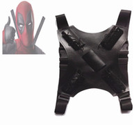 Wholesale deadpool costume accessories for sale - Deadpool Costume Accessories Deadpool Belt Sword Back Strap Sheath Buckle Black Leather