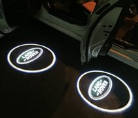 Wholesale Range Rover Light - 2PCS lot led car door welcome projector logo laser shadow light for All Land Rover Discovery 4 for Freelander 2 Range Rover Evoque