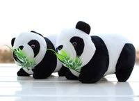 Wholesale Panda Baby Toys - 2016 New Christmas gift cute Panda Plush Toy wedding doll baby bear lying Posture sitting style presents two kinds of choice