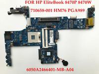 Wholesale Motherboard Hp Elitebook - High quality laptop motherboard for HP EliteBook 8470W 8470P 710658-001 6050A2466401-MB-A04 SLJ8E HM76 PGA989 DDR3 Fully tested