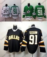 Wholesale Green Color Star - Free Shipping #91 Tyler Seguin Stitched Jersey Men's Dallas Stars Hockey Jerseys Team Color Home Authentic Jerseys