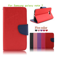 Wholesale Note Ii Wallet - For Samsung galaxy note 7 Newest Luxury Flip leather wallet stand mobile phone case cover for Huawei y6 II compact