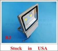 LED spot cast - stock in US die cast aluminum COB LED flood light W X W LED floodlight spot light lamp wall washer AC85 V CE
