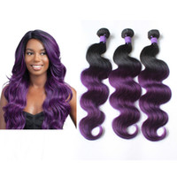 Cheap ombre purple hair weave price comparison buy cheapest ombre color 100g body wave body wave brazilian ombre human hair weave omre purple peruvian hair pmusecretfo Images