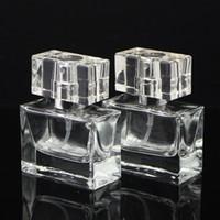 yeni parfümlü atomizer şişeleri toptan satış-100 ADET Marka Yeni Cam Sprey Şişe 30 ML Şeffaf Sprey Şişe Boş Doldurulabilir Parfüm Sprey Şişeleri Atomizer