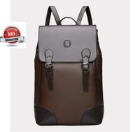 Wholesale Vintage Hiking Backpacks - Men's Business Backpack Bag Vintage Leather Laptop Backpack Rucksack School Travel Hiking Bag Messager Backpack out107