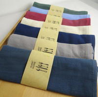 Wholesale linen dyed simple modern table napkin table decoration tableware napkin tableware towel