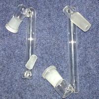 ingrosso porcellana bong-10 Stili Borosilicate Dropdown Adattatore Maschio Femmina 14mm 18mm A 14mm 18mm Femmina Vetro Drop Down adattatori di vetro bong made in china