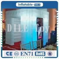 Wholesale Party Tent Sales - Free shipping high quality custom wedding party inflatable photo booth led photo booth tent for sale