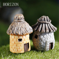 ingrosso decorazioni in resina diy-Wholesale- 1 pezzi banda House Fairy Garden Miniature Craft Micro Cottage Landscape Decoration per DIY Resin Crafts