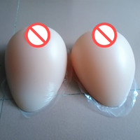 Wholesale Tear Shaped Breast Form - Festival Gift Adhesive Tear Drop Shape Silicone Breast Form Artificial Fake False Boobs Crossdresser Transexual User