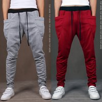 Wholesale Cargo Pants Hot Designs - hot Brand New Fashion Brand Sweatpants Trousers Men Harem Pants Sport Pants, Men'S Big Pocket Design Man Cargo Joggers M ~ XXL