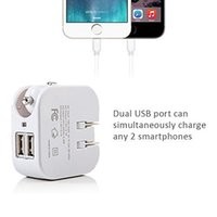 Wholesale Charger Combo - Combo USB Wall Car Charger 2-in-1 Dual Port USB Car Travel Charger Home Wall Adapter with Foldable US Plug for IPhone Samsung HTC Kindle