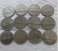 Wholesale wholesaler canada - A set of (1953-1966) 12PCS Canada 1 dollar ELIZABETH II DEI GRATIA REGINA Copy coins Cheap Factory Price nice home Accessories Silver Coins