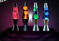denizanası lambaları toptan satış-Yeni varış Metal taban Balmumu lamba volkanik Lava eriyik gece lambası Yaratıcı dekorasyon ışık Denizanası ışık Göz Kamaştırıcı Lava lambası