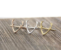 Wholesale Simple Single Rings - 10 PCS lot of sell like hot cakes products simple pilose antler rings, single ring, reindeer antlers loops for women, animals and wholesale